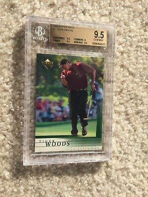 Tiger Woods 2001 Upper Deck Rookie Card BGS 9.5 ( 3 X 9.5) Lot d