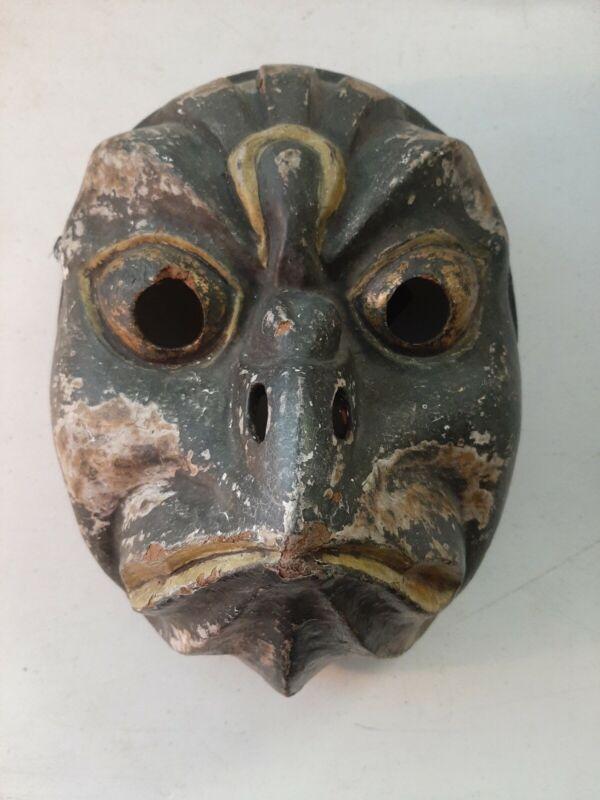 Vintage Japanese Wood Kagura Tengu Mask