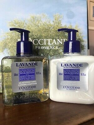Lot Of 2 L'Occitane LAVANDE 10oz En provence Hand Wash And Hand Lotion 300 Ml 10 Oz Moisturizing Hand Wash