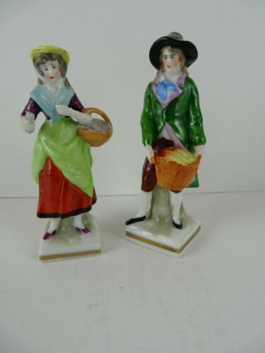 Antique Porcelain Figurines W/Gold Anchor Markings