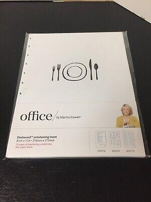 Martha Stewart Office Discbound Notebook Entertaining Insers Filler Pages 8.5x11