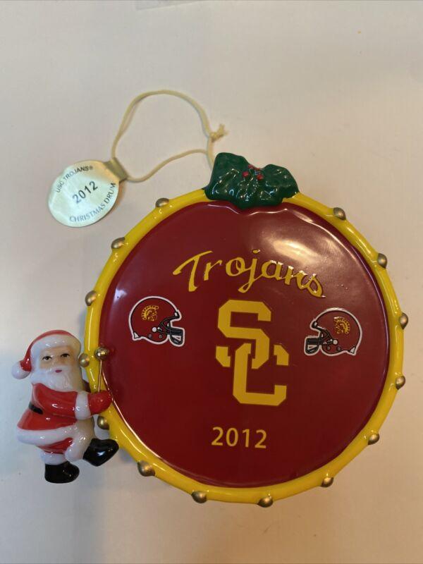 THE DANBURY MINT USC TROJANS CHRISTMAS DRUM 2012 ORNAMENT
