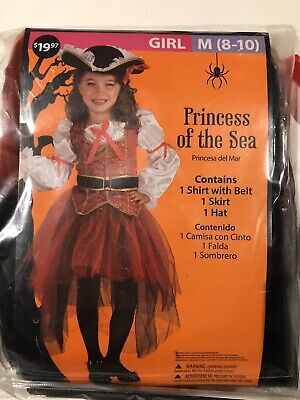 halloween customs for Girls Princess Of The Sea Size M 8/10