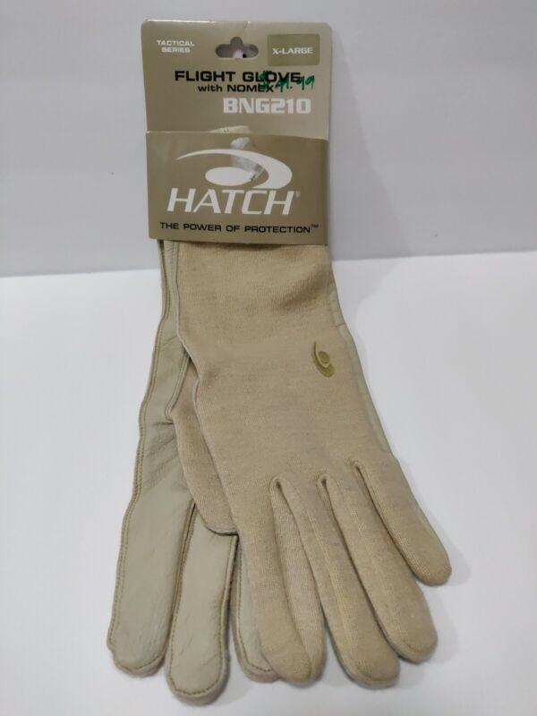 HATCH FLIGHT GLOVE WITH NOMEX BNG210 X-LARGE [EXTRA LARGE] DESERT TAN NEW GLOVES