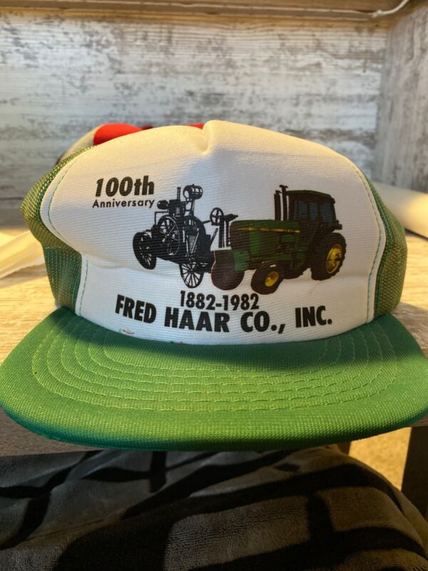 Johm Deere Trucker Hat 100 Anniversery Fred Haar Co Inc  South Dakota
