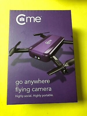 C-me Cme WiFi FPV Selfie Drone With 8MP 1080P HD Camera - Purple - Brand New