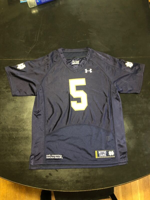 Youth Large Under Armour Norte Dame Fighting Irish Jersey #5