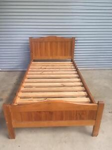 King Single Bed with Premium Spine Support Mattress Moama Murray Area Preview