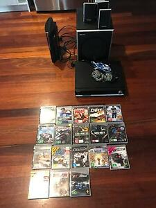 Playstation 3 + 18 games + stereo + surround speakers + cabinet Fitzroy Yarra Area Preview