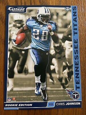 Tennessee Titans Uniform (CHRIS JOHNSON 2008 Tennessee Titans uniform w/ Logo Fathead Mini Card #R19  L@@K )