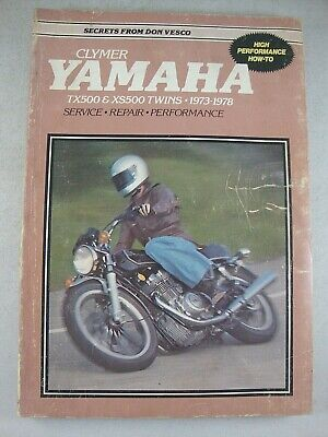 Yamaha TX500 XS500 TX XS 500 Vintage Twins Service Repair Manual 1973-1978 RARE!