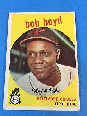 """1959 Topps #82 """"Bob Boyd"""" First Base Baltimore Orioles Baseball Card (G)"""