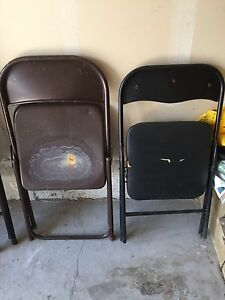 Two old folding chairs