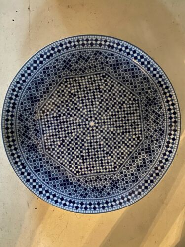 Cocema Fes Maroc - Dinner Plate - Moroccan Porcelain