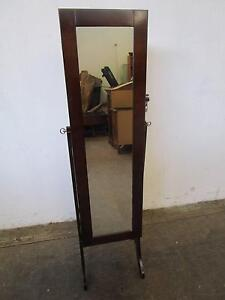 D5059 Lovely Mahogany Full Length Mirror Jewellery Cabinet Mount Barker Mount Barker Area Preview