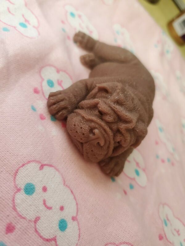 "4"" Silicone Baby Puppy Bulldog"