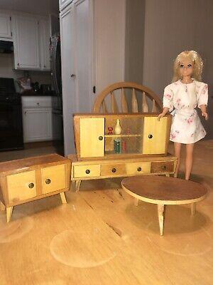Vintage Barbie Wood Furniture. Miniature Furniture