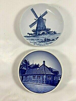 Vtg Royal Copenhagen Denmark Mini Blue Plate Danish Windmill SAS 4 Andersen's 16