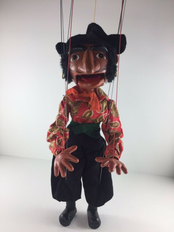 Vtg 1960s Pelham Puppet Pirate String Marionette  Malborough England