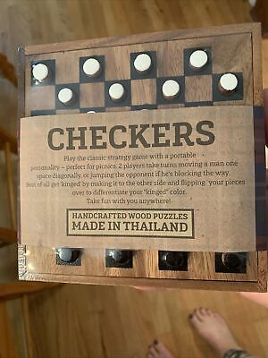 Siam Mandalay Wooden Checker Game Made in Thailand Mini