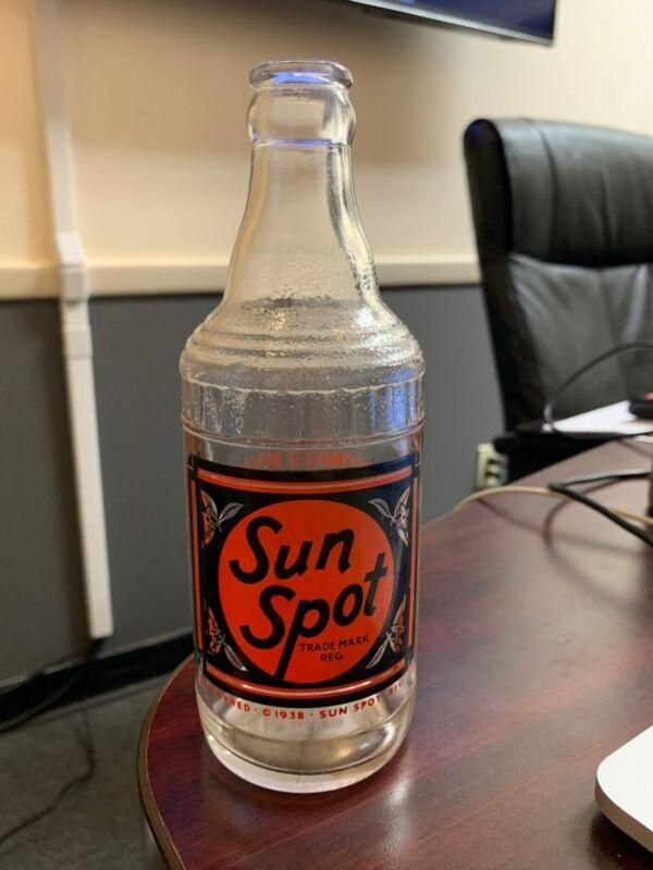 Vintage ACL Sun Spot Orange Black Label 12oz