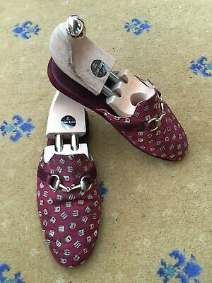 Vintage Gucci Mens Shoes Red Dice Horsebit Slippers UK 6 US 7 EU 40