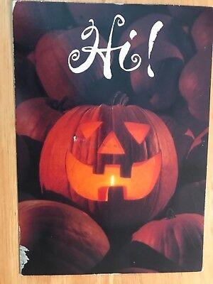 POSTCARD USED HALLOWEEN -HI! HAPPY HALLOWEEN A PUMPKIN PATCH](Happy Halloween Postcards)