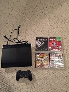 Ps3 with games and controller