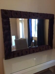 Plush purple framed mirror- from Winners