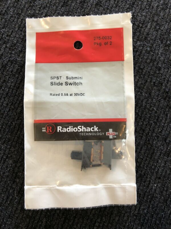 NEW! RadioShack SPST Submini Slide Switches (Pkg. Of 2) 2750032