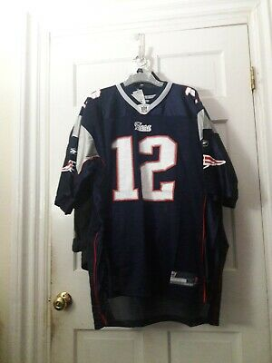 1cfe121c0 Tom Brady New England Patriots NFL Throwback Reebok Vintage football Jersey  ..2X