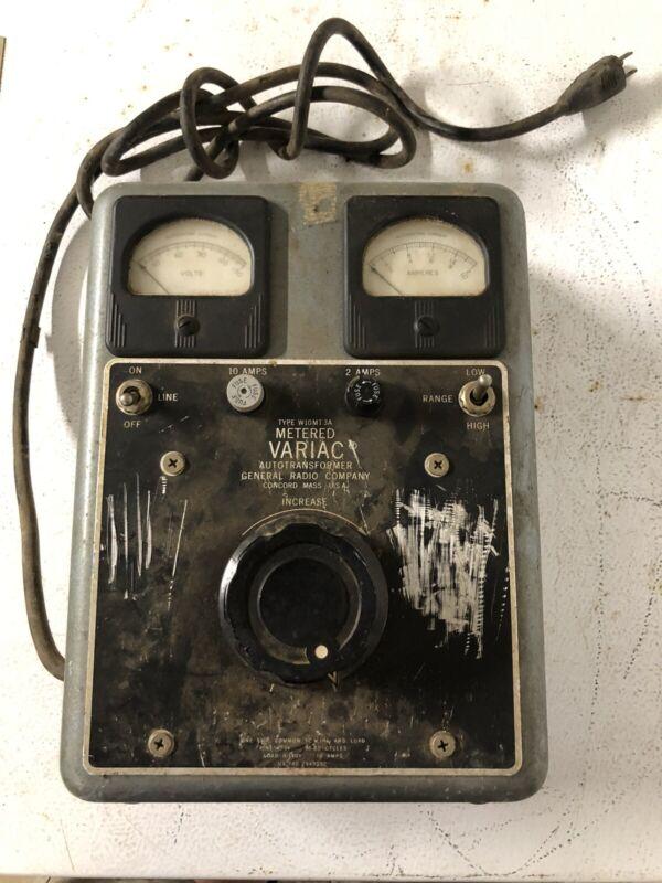 General Radio W10MT3A Metered Variac 0-140V 0-10A Autotransformer works