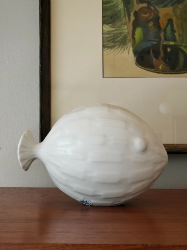 Jonathan Adler Menagerie Puffer Fish Rare Retired Pottery Ceramic Folk Art