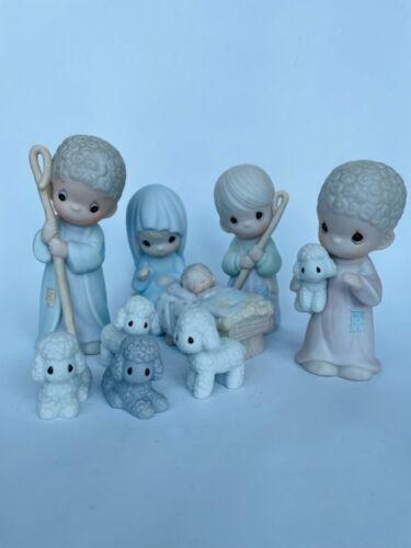 Precious Moments Nativity Set - Come Let Us Adore Him, 9 Piece Set #104000
