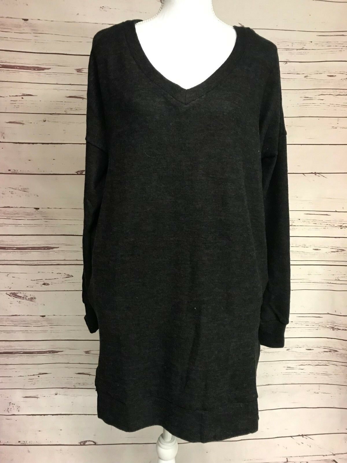 Zenana Outfitters Black V-Neck Sweater Brushed Tunic Boutiqu