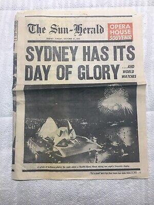 The Sun Herald - Sydney Opera House -  Newspaper Souvenir - Oct 21st 1973