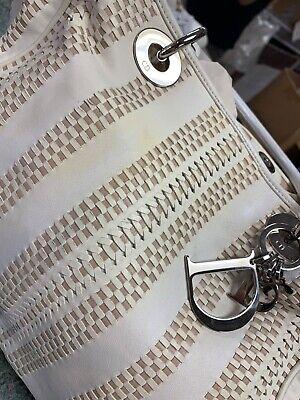 dior ivory and beige lamb skin authentic handbag