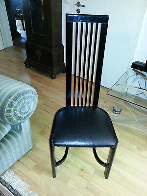 Designerstuhl, hochglanzschwarz, Klavierlack, Leder schwarz, einzigartig - Lack Schwarz Stuhl