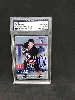 JT Miller Signed 2017 Party City Card NY Rangers PSA DNA (Party City Ny)
