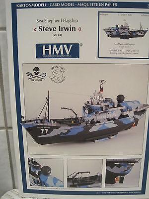 Steve Irwin Sea Shepherd Flagship Kartonbausatz *NEU* Bastelbogen Kartonmodell