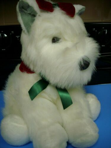 V.good 1997 VINTAGE SCOTTY DOG SCOTTISH TERRIER PLUSH STUFFED ANIMAL toy xmas