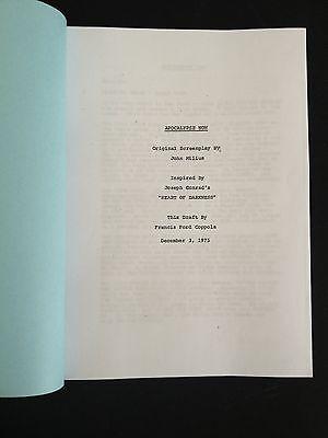 APOCALYPSE NOW (1979) Screenplay by Francis Ford Coppola, John Milius