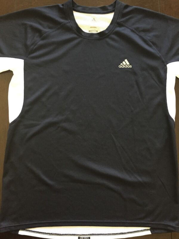 Adidas Clima 365 Mens Dri fit T-Shirt Navy Blue/White, Size M