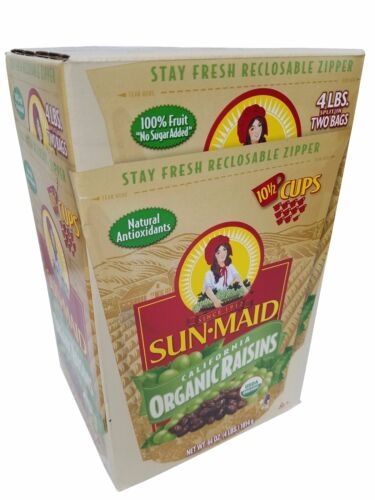 Sun Maid Califronia Organic Raisins 100% Natural 4 LB