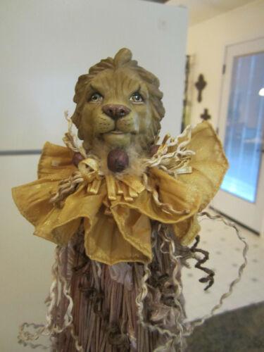 "Katherine's Collection Wayne Kleski safari animal lion tassel bottle topper 15"""