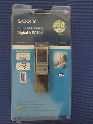 Sony ICD-P520 Handheld Digital Voice Recorder 130 Hrs. Recording Time SEALED