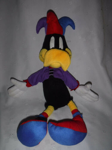 "Looney Tunes Daffy Duck Jester 20"" Plush Soft Toy Stuffed Animal"