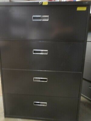 Steelcase 4 Drawer Lateral Legal File Cabinets With Keys 36 W X 18 D X 52 T