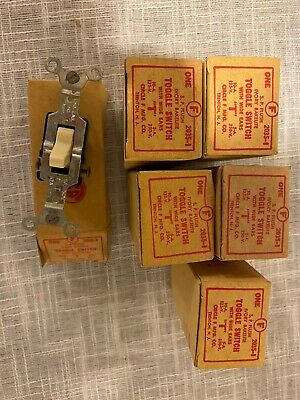 Vtg Bakelite Flush Light Switch Toggle Ivory 6 Total Three Way