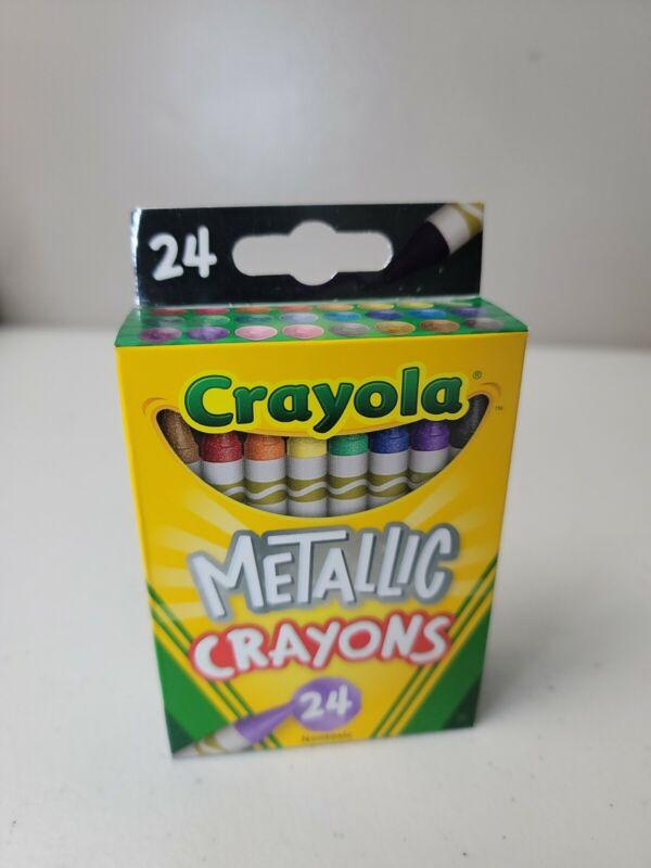 Crayola Metallic Crayons 24 Count Colors